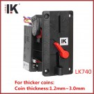 LK740 Maple slot coin acceptor for thick coins